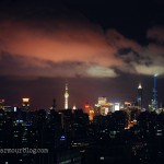 view of Shanghai at night